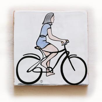 ciclista-azulejo-20x20-Paloma-ppmiralles-cerámica-de-autor-venta-on-line