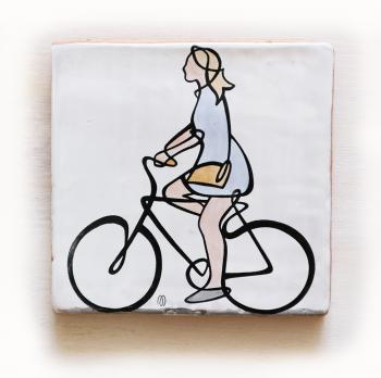ciclista-azulejo-20x20-Silvia-ppmiralles-cerámica-de-autor-venta-on-line