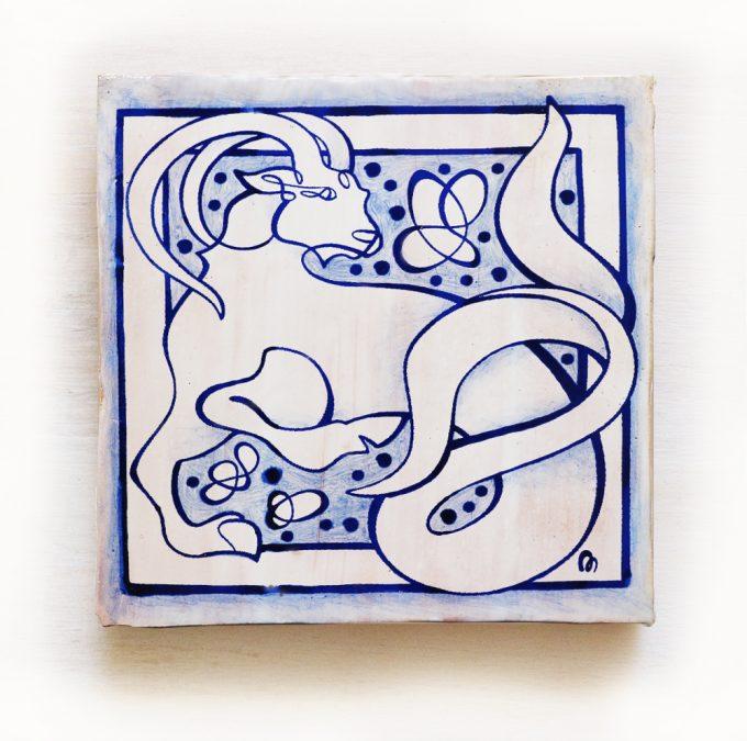 Capriconio-signos-del-zodiaco-horoscopo-cerámica-valenciana-moderna-ppmiralles-venta-on-line