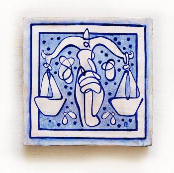 Libra-signos-del-zodiaco-horoscopo-cerámica-valenciana-moderna-ppmiralles-venta-on-line