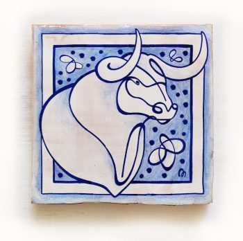 Tauro-signos-del-zodiaco-horoscopo-cerámica-valenciana-moderna-ppmiralles-venta-on-line